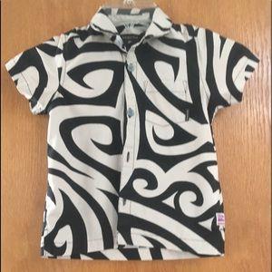 Quiksilver Boys Button Down Aloha Shirt
